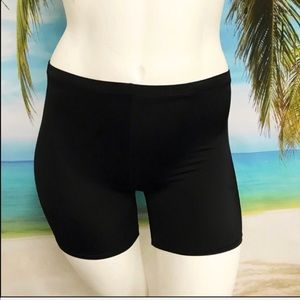 Plus Size {24} Black Swim Shorts